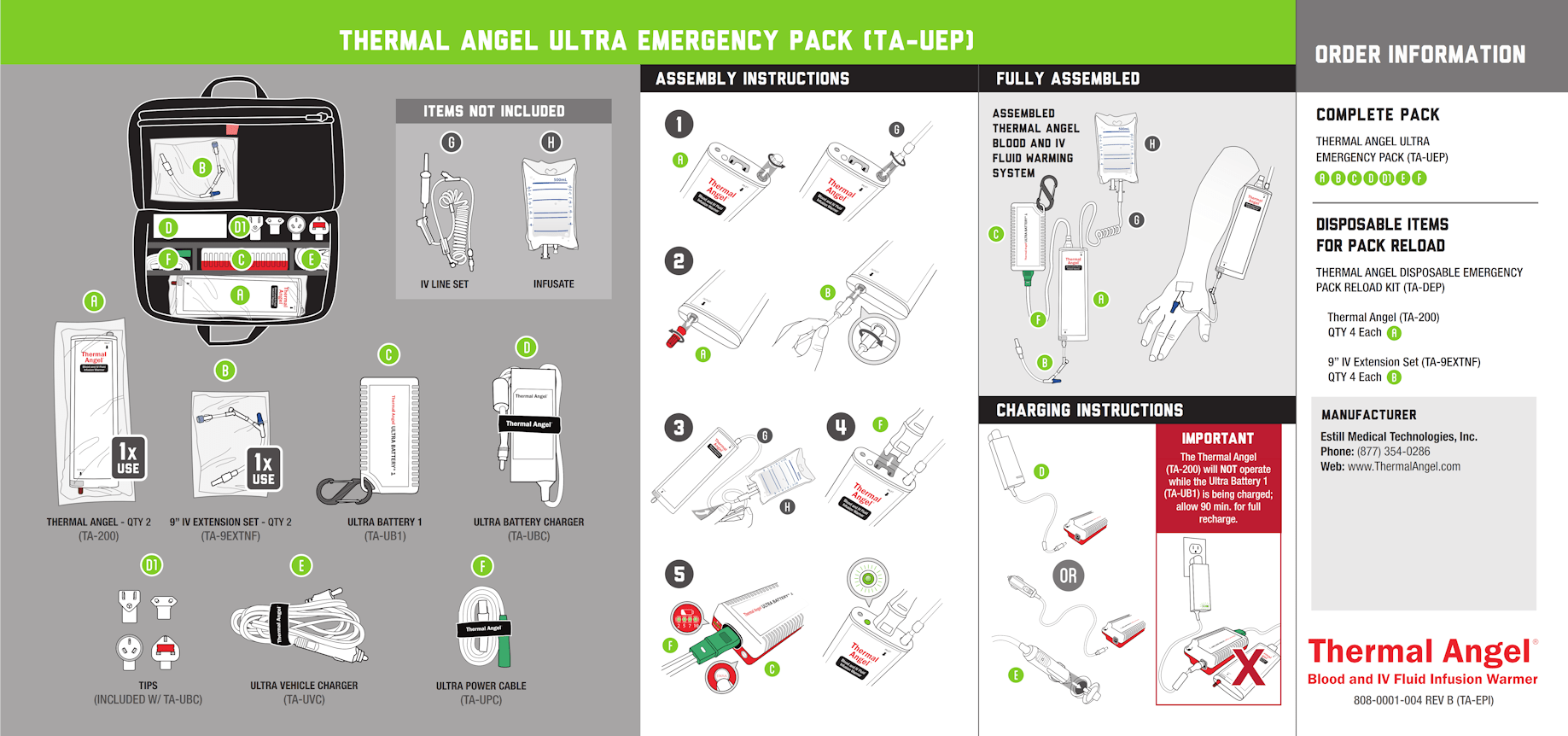 Thermal Angel Ultra Emergency Pack Instructions